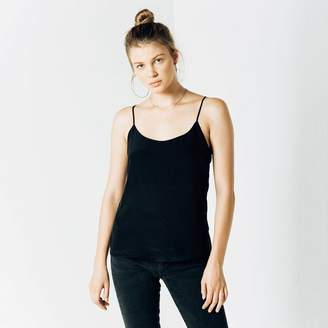 DSTLD Womens Silk Cami in Black