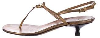 Gucci GG Metallic Thong Sandals