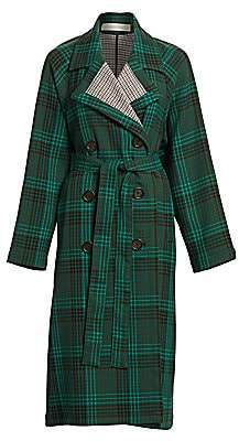 See by Chloe Women's Plaid Trench Coat