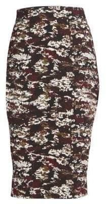 Victoria Beckham Camo Pencil Skirt