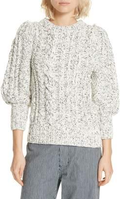 Apiece Apart Ermita Puff Sleeve Sweater