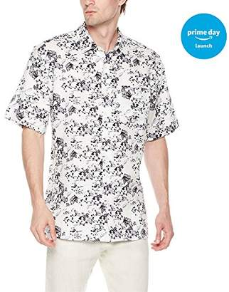 Isle Bay Linens Men's Standard Fit 100% Linen Hawaiian Short Sleeve Casual Shirt