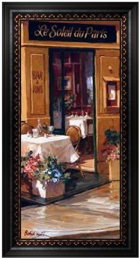 """KitchenArt """"La Petite Terrasse (Detail)"""" Framed Wall Art"""