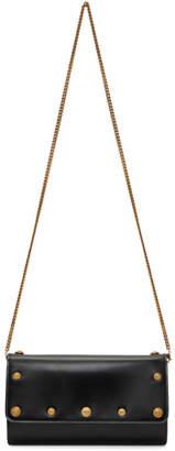 Versace Black Continental Chain Wallet Bag