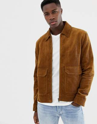 Jack Wills Maxfield cord coach jacket in camel