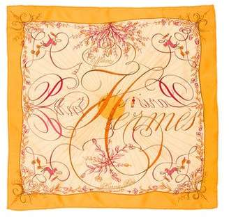 Hermes Effluves Silk Pocket Square