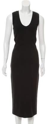 Narciso Rodriguez Scoop Neck Zip-Up Dress
