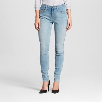 Mossimo Women's Mid-rise Skinny Jeans (Curvy Fit) Light Wash - Mossimo $27.99 thestylecure.com