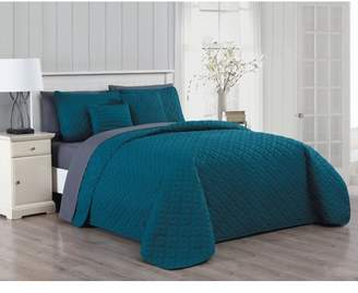 Avondale Manor Minnie 9pc Quilt Set - Queen - Teal/Charcoal