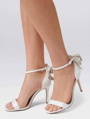 Forever New Stella Bow Back Jewelled Heel - Ivory - 37