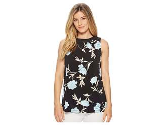 Ellen Tracy Sleeveless Top With Smocking