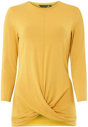 Dorothy Perkins Womens **Tall Yellow Wrap Top