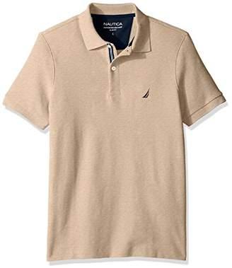 Nautica Men's Standard Slim Fit Short Sleeve Solid Polo Shirt