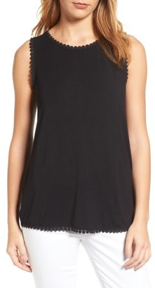 Women's Halogen Geo Trim Tank $39 thestylecure.com