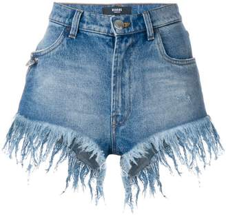 Versus frayed high-waisted shorts