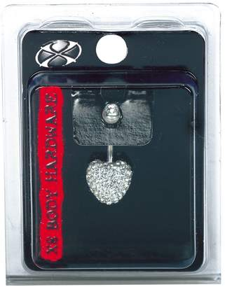 Pacific Piercing Supply Fireball Crystal Heart Navel Dangle