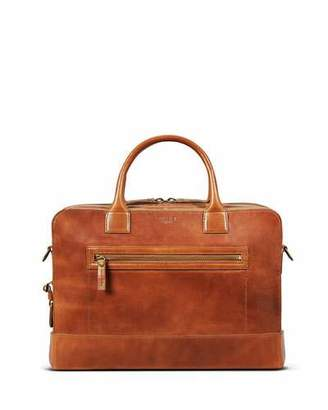 "Shinola Men's Bedrock Embossed Harness Briefcase - 15"" Laptop"