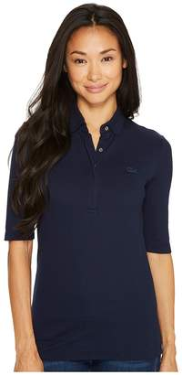 Lacoste 1/2 Sleeve Slim Fit Stretch Pique Polo Women's Clothing