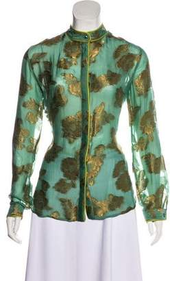 Etro Long-Sleeve Button-Up Top