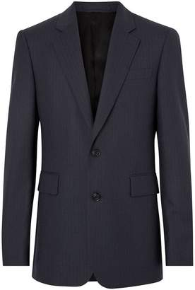 Burberry Classic Fit Pinstripe Wool Tailored Jacket