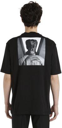 Self Portrait Printed Cotton T-Shirt $319 thestylecure.com