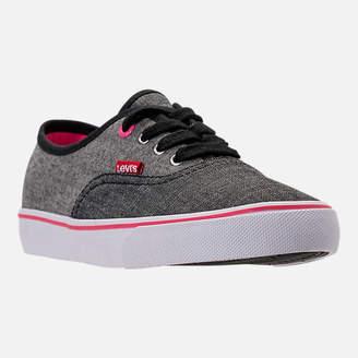 Levi's Footwear Girls' Preschool Monterey Chambray 2 Tone Casual Shoes