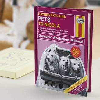 Haynes The Letteroom Personalised Explains Pets