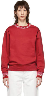 Moncler Red Logo Sweatshirt