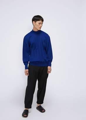 Issey Miyake Wrinkle Knit Mock Neck Sweater