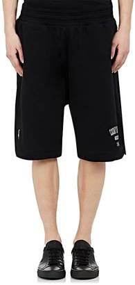 Marcelo Burlon County of Milan Men's Logo Cotton Fleece Shorts - Black