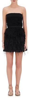 Nina Ricci WOMEN'S SILK CHIFFON STRAPLESS DRESS