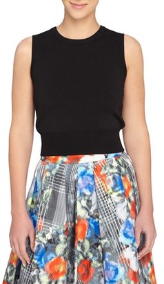 Women's Catherine Catherine Malandrino 'Lupita' Sleeveless Crop Top $78 thestylecure.com