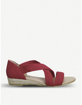 Office Hallie cross-strap suede sandals