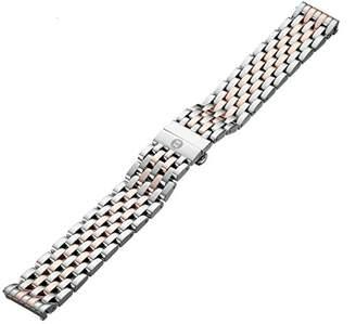 Michele MS18AU315750 18mm Deco Stainless Steel Two-Tone Watch Bracelet