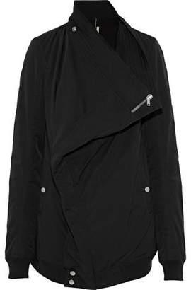 Rick Owens Canvas-Trimmed Cotton-Blend Faille Jacket