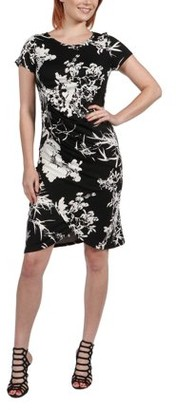24/7 Comfort Apparel Women's Diana Black and White Dress