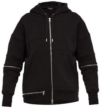 Alexander McQueen Cotton Blend Hooded Sweatshirt - Mens - Black