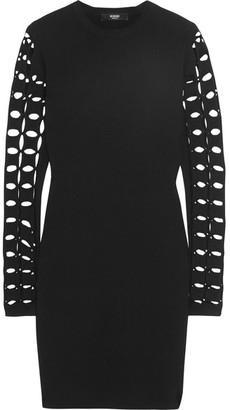 Versus Versace - Cutout Knitted Mini Dress - Black $595 thestylecure.com
