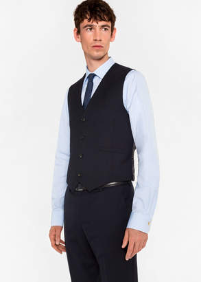 Paul Smith A Suit To Travel In - Men's Tailored-Fit Navy Wool Waistcoat