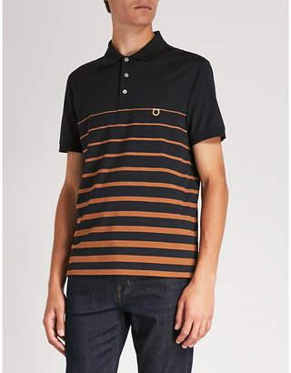 Salvatore Ferragamo Striped cotton-jersey polo shirt