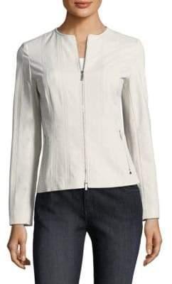 Lafayette 148 New York Courtney Zip-Front Jacket