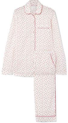 Three J NYC Murphy Printed Cotton-voile Pajama Set - White