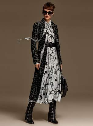 Michael Kors Portrait Print Silk-Georgette Shirtdress