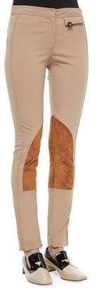 Derek Lam Stretch Twill Jodhpur Leggings, Camel $1,150 thestylecure.com