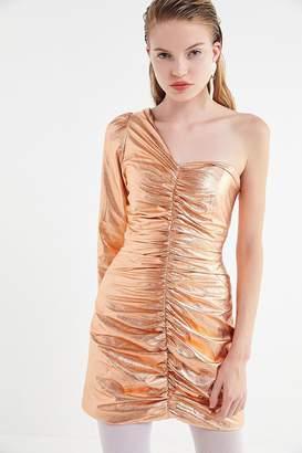 Urban Outfitters Cyndi Metallic One-Shoulder Mini Dress d6469634d61fa