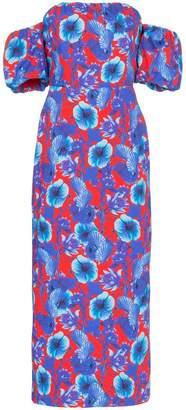 Borgo de Nor Floral-print bardot dress