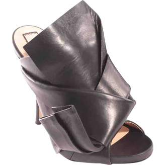 N°21 N21 Black Leather Sandals