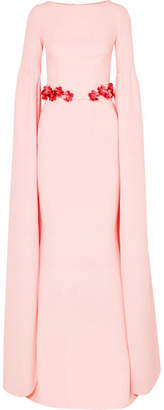 Octavia Safiyaa Belted Stretch-crepe Gown - Pastel pink