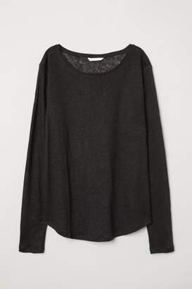 H&M Linen Top - Black