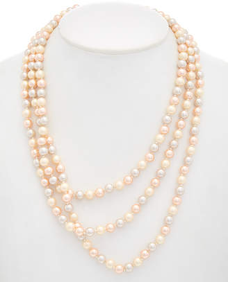 Carolee Pink Champagne Rope 72In Necklace